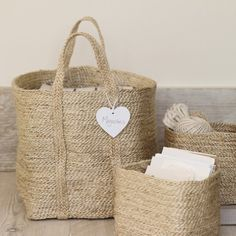 Beautiful neutral baskets