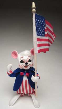 Annalee Patriotic Boy Mouse Laughing & Eyes Open 2016 Mobility Doll 6 inch NEW #AnnaleeMobilityDoll #Dolls