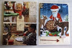 Love this idea of a foldable pages and adding advent calendars traditions. from Ali Edwards