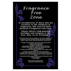 Fragrance Free Zone Poster