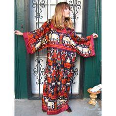 Mood board # Inspirations  Vintage Ikat Caftan Rich Hippie Dress
