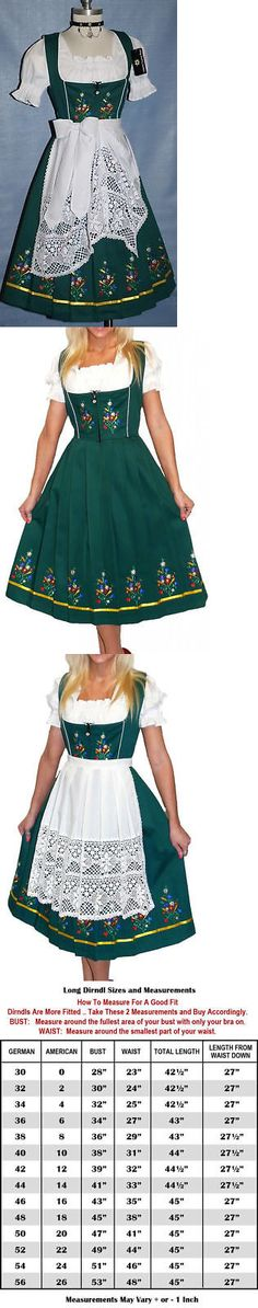 Dirndls 163143: Dirndl Oktoberfest German Dress Embroidered Garden Long 3 Pieces Complete Set -> BUY IT NOW ONLY: $169 on eBay!