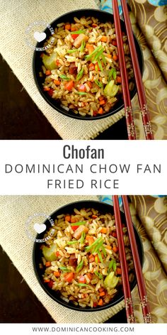 Chofan (Dominican Chow Fan) is the Dominican version of the Chinese fried rice, an example of the influence of the Chinese community on our cuisine. #rice #chofan #dominicanrice #friedrice #chowfan #dominicanrecipe #dominicancooking #simplebyclara @SimpleByClara   dominicancooking.com