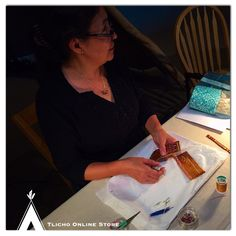 Visited Lucy Ann Yakeleya from the #Sahtu at the PWNH museum today. Loved watching her work with porcupine quillwork.