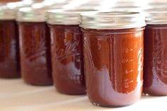 BBQ sauce without any processed junk in it! Batch ready to hot water bath can! Yes.