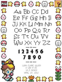 Baby Peach Birth Record Cross Stitch Pattern door HappyCupcakePlush, $5,00