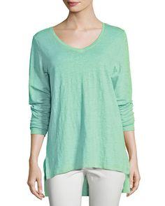 TDHRV Eileen Fisher Organic Linen Jersey V-Neck Tunic