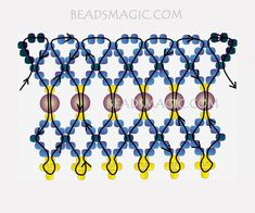 FREE Pattern for Beaded Necklace GRAND | Beads Magic#more-9541. Use: seed beads 11/0, pearl beads 4-6mm. Page 2 of 2