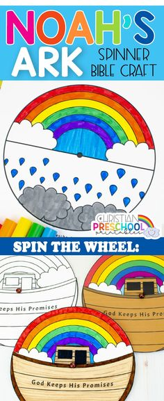 If you are teaching about Noah's ark, teach using hands-on bible crafts that include the wonderful promises of God. This version of Noah's Ark includes only 4 Steps, yet beautiful and creative! #christianpreschoolprintables #biblecrafts #noahsarkcrafts #rainbowcrafts Bible Crafts For Kids, Vbs Crafts, Cute Crafts, Arts And Crafts, Character Activities, Bible Activities, Preschool Activities, Sunday School Crafts, Sunday School Activities
