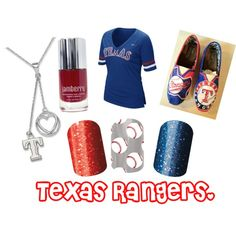 """""""texas rangers jamberry"""" by ginnygreen on Polyvore"""