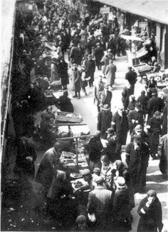 Warsaw, Poland, Market scenes in the ghetto. Trade a barter for food and clothes etc.