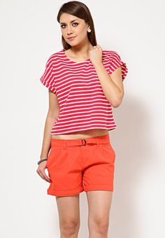 Striped Crop Top Price: Rs 499