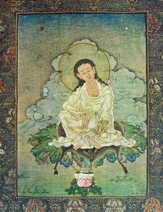 Tibetan Buddhist Thangka of Mahasiddha Milarepa Tibetan Mandala, Tibetan Art, Tibetan Buddhism, Buddhist Wisdom, Buddhist Art, Buddhist Quotes, Tibetan Symbols, Vajrayana Buddhism, Thangka Painting
