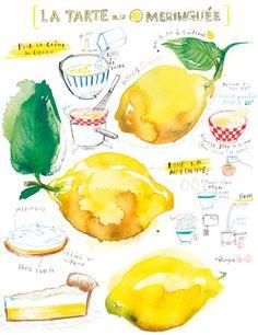 Tarta de limón. Ilustración » Whole Kitchen