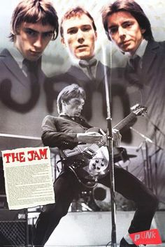 The Jam poster - Very nice Punk series personality promo - Paul Weller Band Posters, Cool Posters, Music Posters, Classic Rock Artists, The Style Council, Fred Perry Polo, Paul Weller, The Jam Band, 70s Music