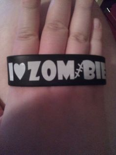 I Heart Zombie Rubber Bracelet by SecondHandGoddess on Etsy, $5.00