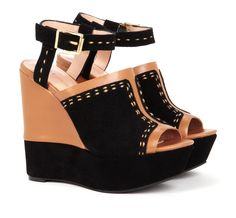 Topstitched Wedges