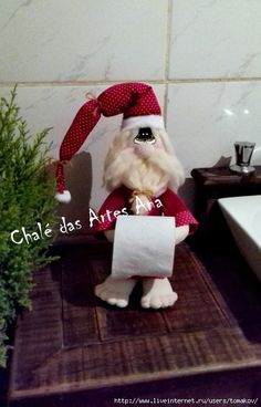 КУКЛЫ-ДЕРЖАТЕЛИ ТУАЛЕТНОЙ БУМАГИ: prelenka — LiveJournal Diy Doll Toilet, Ever After Dolls, Toilet Paper Roll Holder, Rena, Elf On The Shelf, Christmas Stockings, Sewing Crafts, Free Pattern, Projects To Try