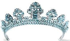 Image result for images of aquamarine tiaras