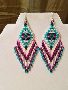 Native American Style boucles doreilles par BeadedCreationsetc