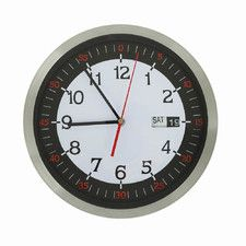 """11.8"""" Stainless Steel Round Wall Hanging Clock"""