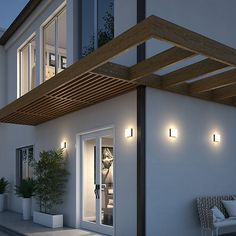 Pergola Ideas For Deck Outdoor Flush Mounts, Outdoor Wall Sconce, Outdoor Walls, Outdoor Lighting, Lighting Ideas, Modern Lighting, Minimalist House Design, Minimalist Home, Modern House Design