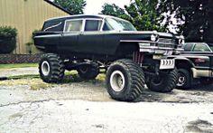 Hearse monster truck http://www.cultofweird.com