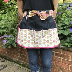 Gardening apron with vintage fabric £15.00