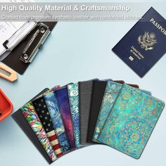 Little Funny Rabbit Sitting In Leaves Blocking Print Passport Holder Cover Case Travel Luggage Passport Wallet Card Holder Made With Leather For Men Women Kids Family