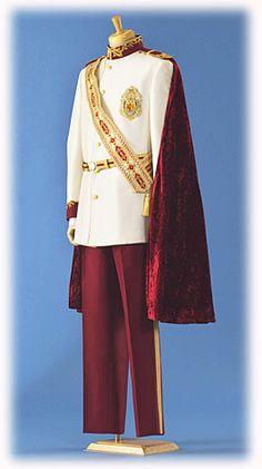 Prince/Groom wardrobe (Tokyo Disney Fairy Tale Weddings site) #disneyweddings Gothic Fashion Men, Royal Fashion, Prince Suit, Princes Dress, Beauty And Beast Wedding, Military Costumes, King Outfit, Royal Dresses, Halloween Fashion