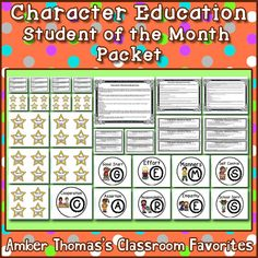 Improve student behavior by teaching, modeling, and holding students accountable to your expectations. This character education packet teaches one character trait each month and includes positive and constructive reminders. $