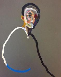 'Homme 86' (SOLD) A4 acrylic on paper DM for inquiries #loribellespirovski #art #oilpainting #contemporaryart #konst #kunst #arts…