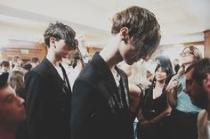 Backstage at Alexander McQueen SS15