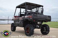 New 2016 Kawasaki Mule Pro-FXT™ EPS LE ATVs For Sale in Texas. $16,999 As Equipped! Buy now and save $2,600 OFF OF MSRP as equipped! +$250 Additional discount for Military personnel and Veterans! This Mule Pro FXT has 7 inches of lift and 30 inch tall tires! CATVOS Arched A Arm Lift Quad Boss QBT673 30x10x14 Tires STI HD6 Radiant Red 14X7 4+3 Wheels 20 Inches Ground Clearance (check out the pictures and notice how it clears a 5 gallon bucket with 4 inches to spare) The new 2016 Mule PRO-FXT™…