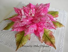 Susan's Garden Speckled Poinsettia Tutorial