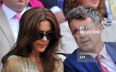 Denmark's Crown Prince Frederik and Crown Princess Mary sit in the Royal Box on Centre Court before the start of the men's singles second round match between Spain's Nadal and Czech Republic's Rosol on day four of the 2014 Wimbledon Championships in Wimbledon, London, 26.06.2014.