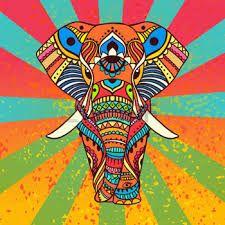 Resultado de imagen para elefantes dibujos hindu