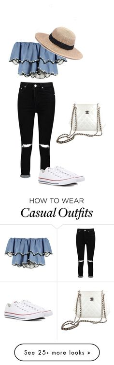 """""""Casual outfit"""" by cookiemonster206 on Polyvore featuring HUISHAN ZHANG, Boohoo, Chanel and Converse"""