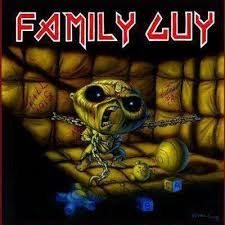 Stewie as eddie from iron maiden Stewie Griffin, Heavy Metal Rock, Heavy Metal Bands, Eddie Griffin, Iron Maiden Posters, Grunge, Family Guy, Funny Family, Famous Monsters
