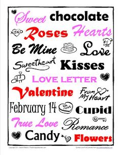 Valentine's Day Freebie..writing/poetry idea..