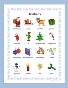 Resultado de imagen de english vocabulary christmas puzzle