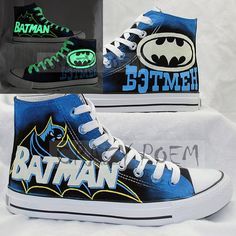Popular+Batman+Luminous+Hand+Painted+High+Top+Canvas+by+CrazyPoem