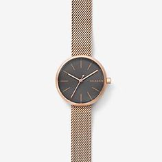 Signatur Rose Gold-Tone Steel-Mesh Watch - Watches - Women - Skagen
