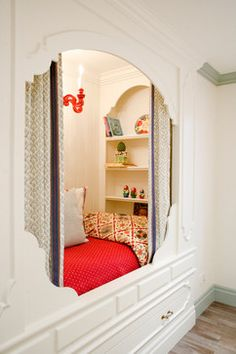 Just like Thomas Jefferson had. Only his didn't have a wall. Great little bed/reading nook for a little one.