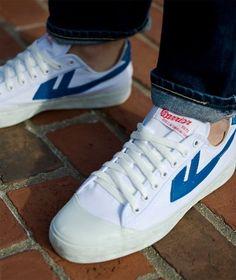 Warrior Footwear Classic White/Blue