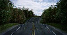 A road scene made in #Blender3D #b3d. Inspired by a tutorial from CG Geek.