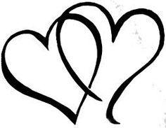 wedding bells pictures clip art black outline joined hearts clip rh pinterest com Wedding Bells Icon Gold Hearts Wedding Clip Art