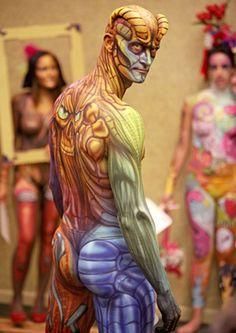 Body paint.