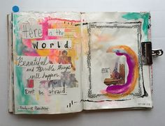 @TCLMN | Beautiful and Terrible | Season of Words | Get Messy Art Journal