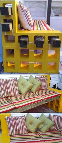 bellissima-panchina-gialla-fai-da-te1.jpg (600×1387)